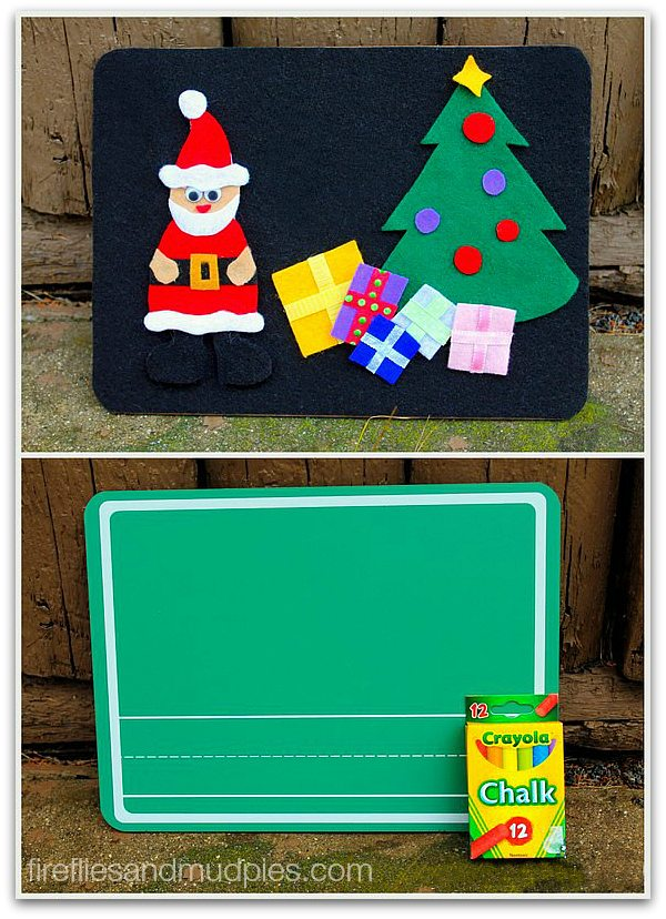 Combination Felt and Chalkboard