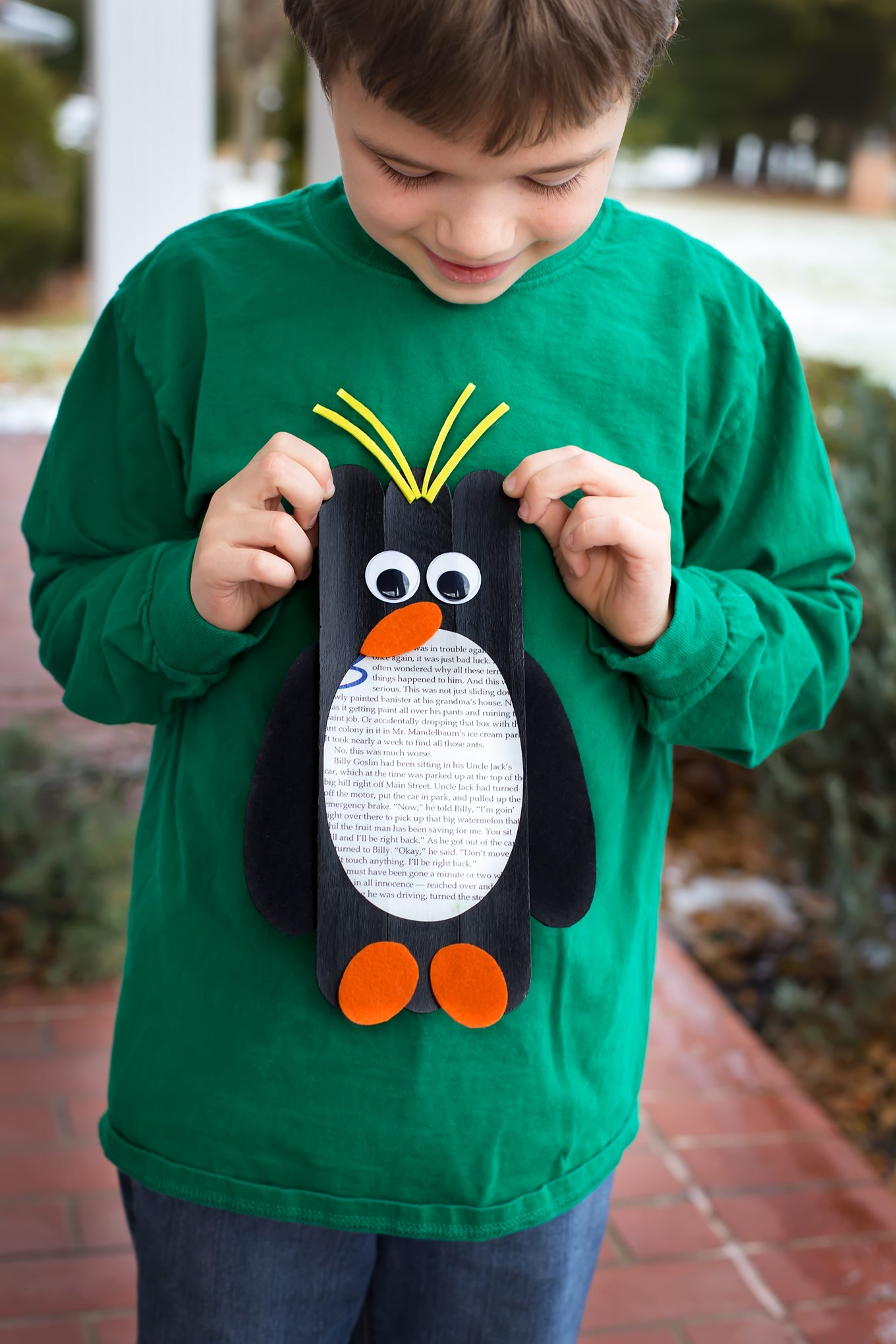 Craft Stick Macaroni Penguin
