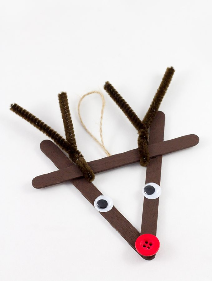 Classic Craft Stick Reindeer Ornaments