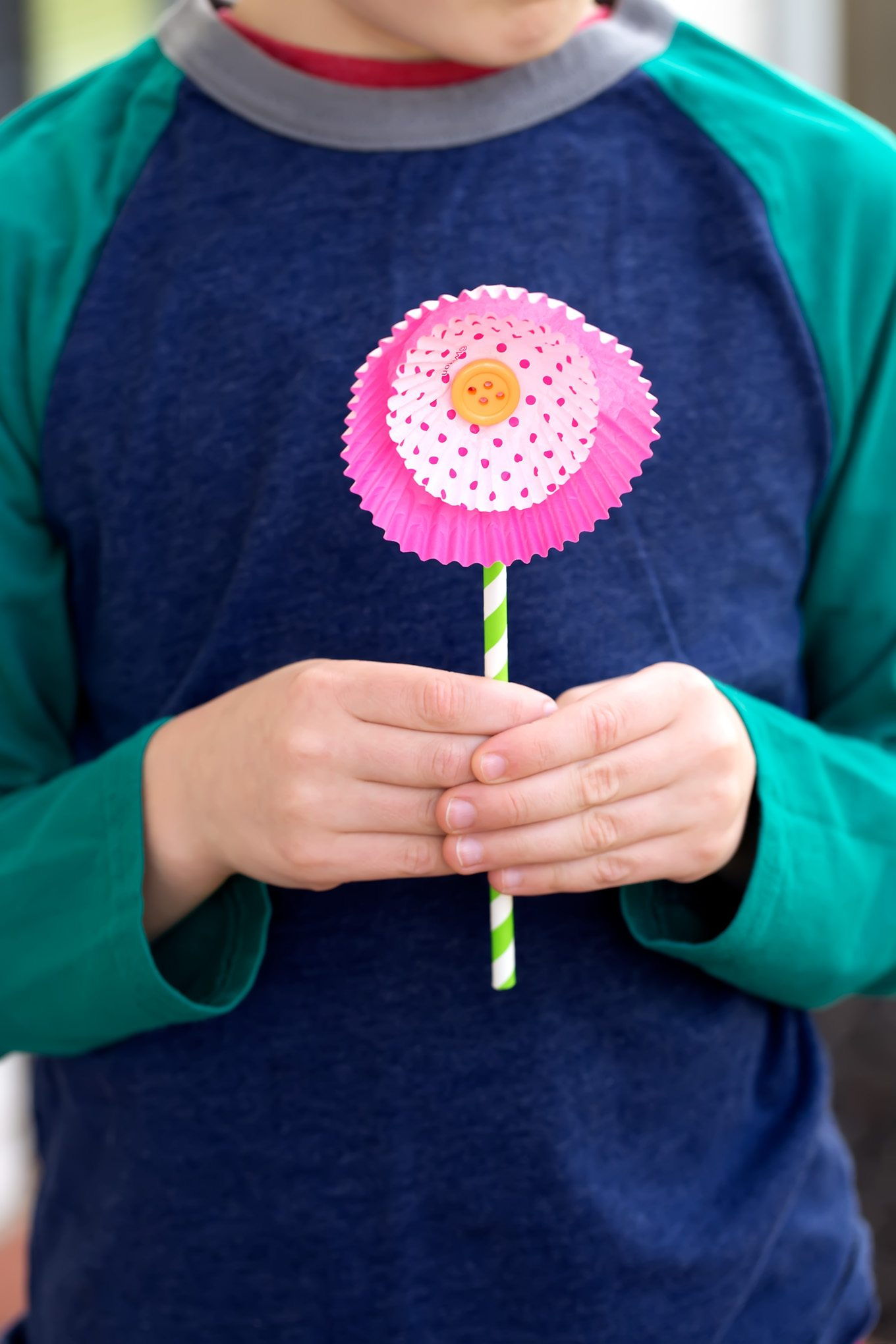 Cupcake Liner Flowers are an easy, beautiful spring craft for kids.