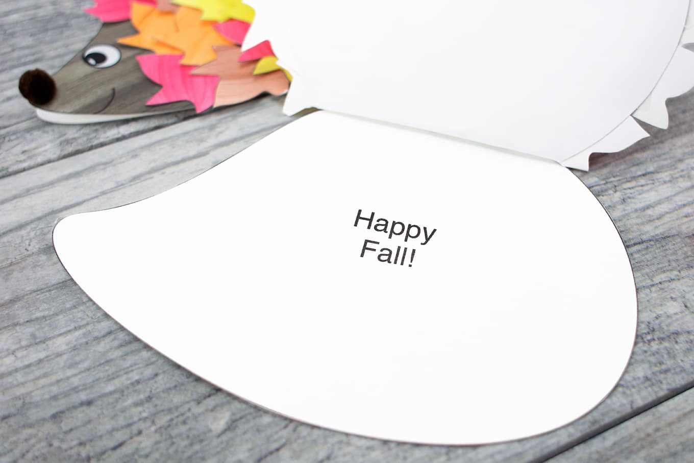 Fall Hedgehog Card
