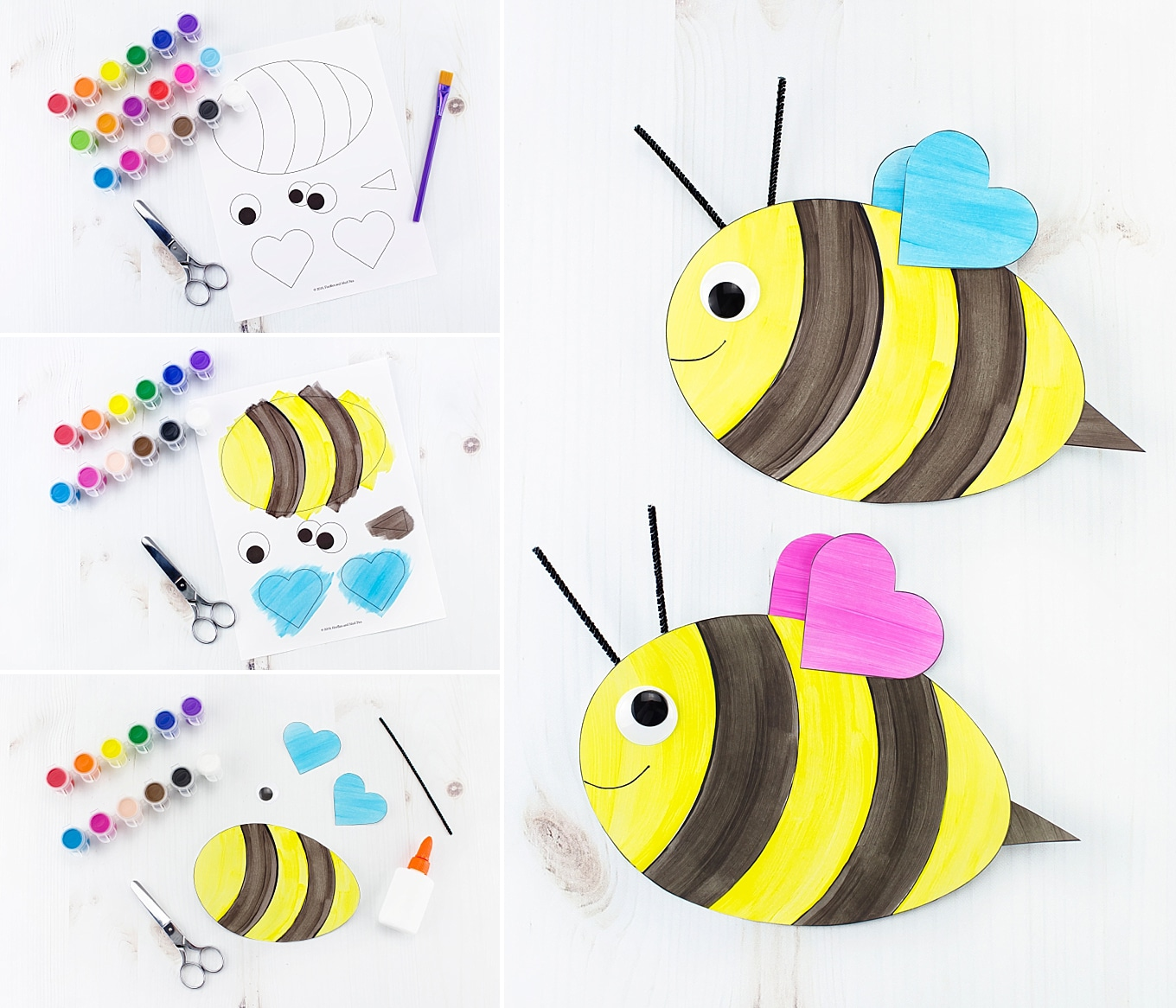 Easy and Fun Paper Bee Craft for Kids