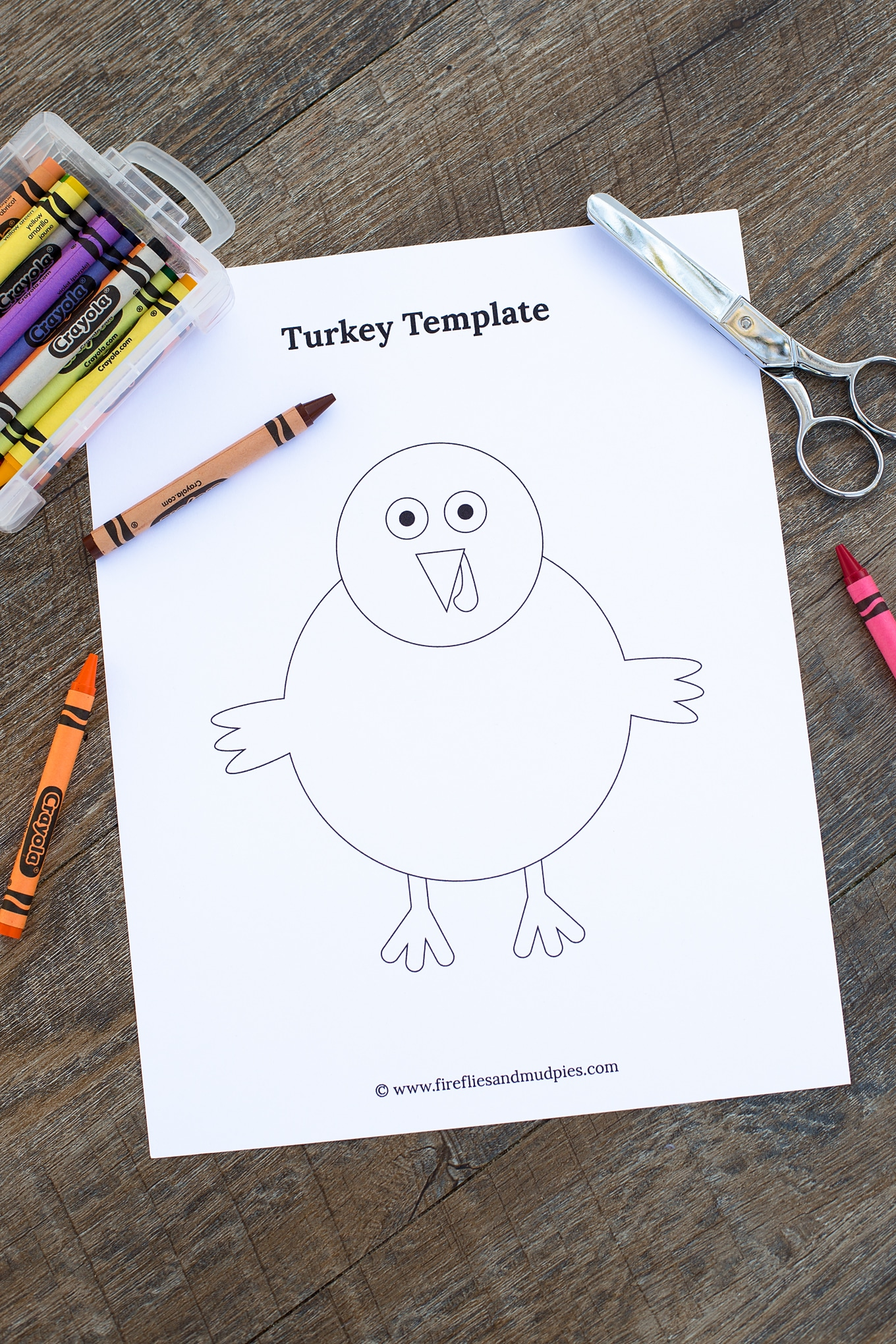 Thanksgiving Turkey Craft Template