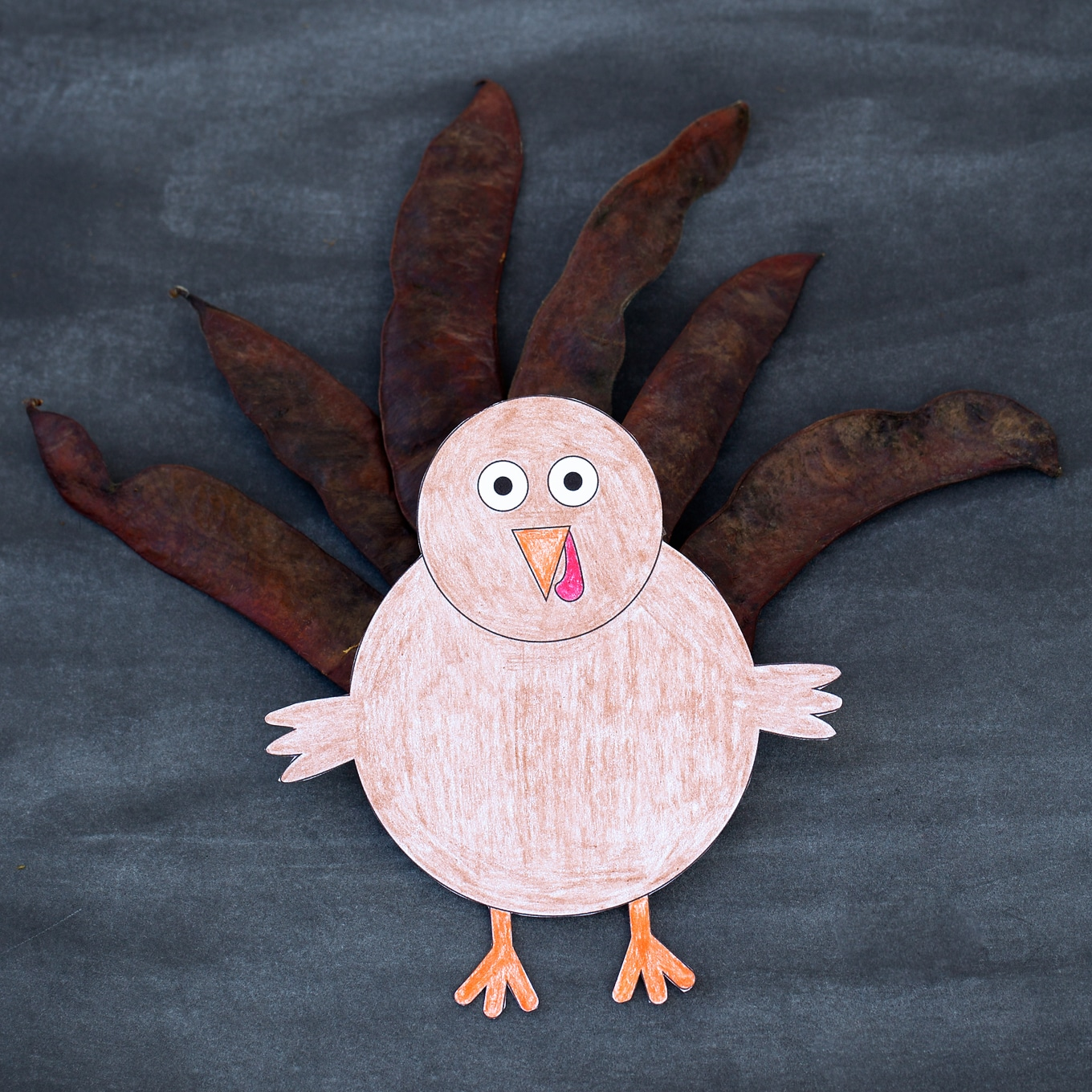 Kids love this creative Design Your Own Thanksgiving Turkey craft. This easy craft includes a free printable template, making it perfect for home or school.