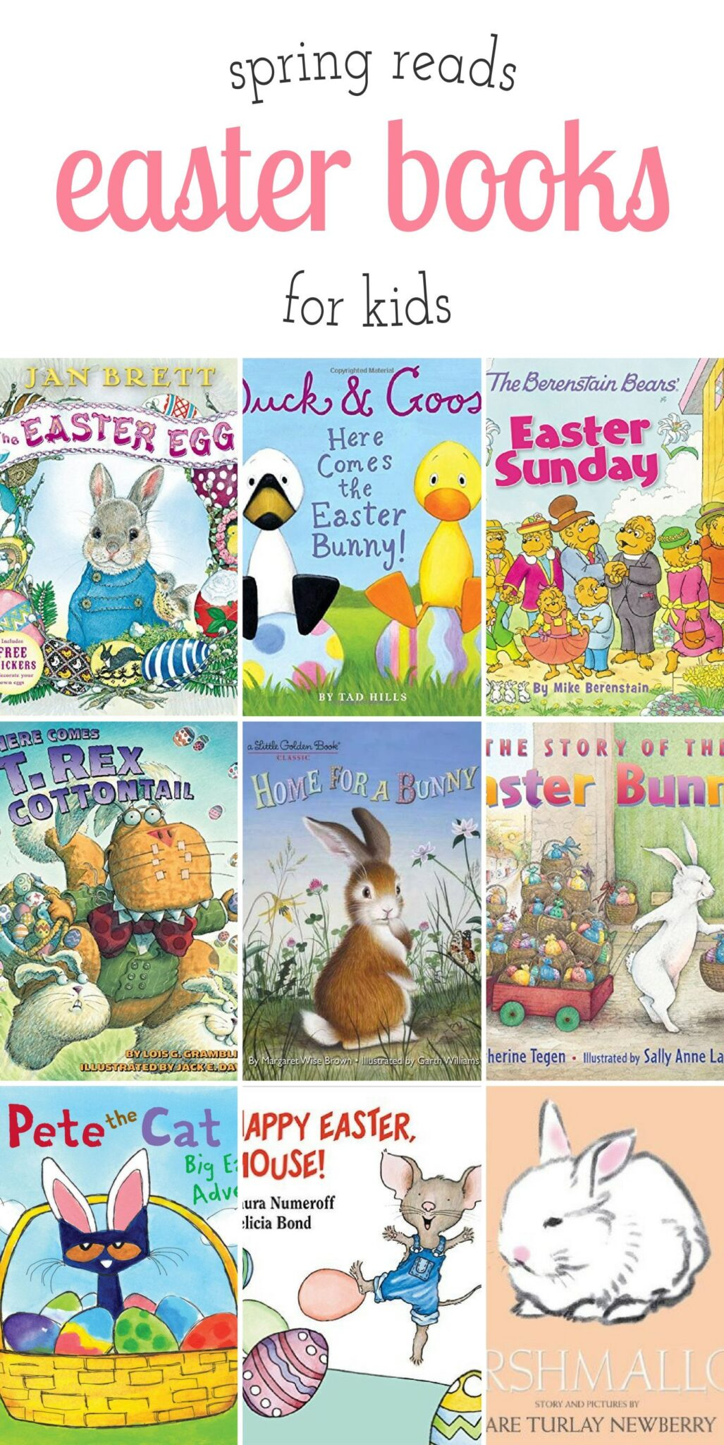 Favorite Easter books for kids, perfect for celebrating blue skies, new life, and warm spring breezes.