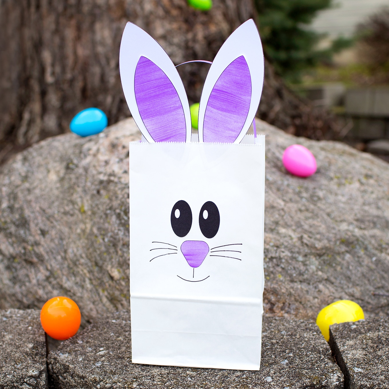 Easiest Paper Bag Bunny Craft