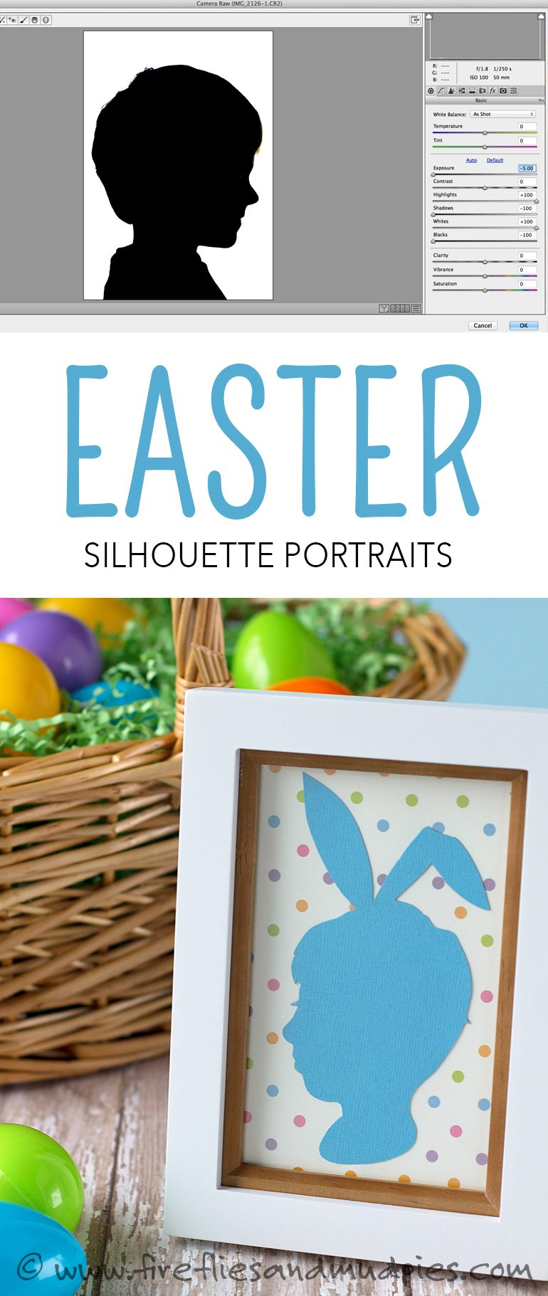 Easter Silhouette Portraits - A whimsical keepsake craft for families! | Fireflies and Mud Pies