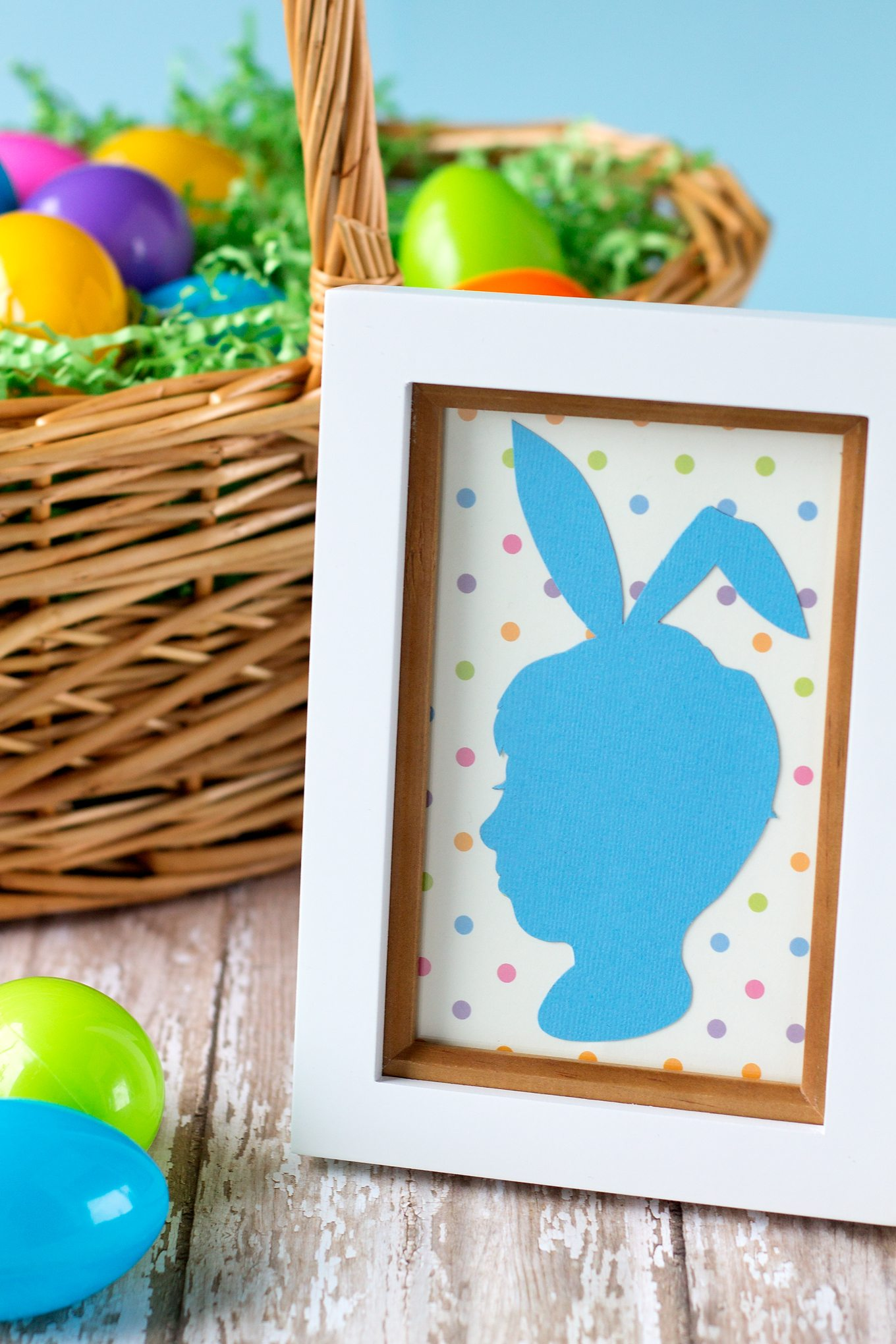 How to Make an Easter Silhouette Portrait