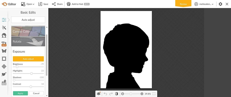 Easter Silhouette Portrait in PicMonkey