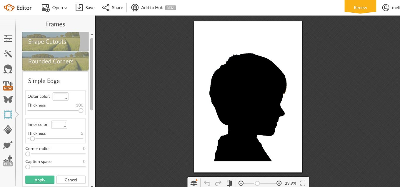 Easter Silhouette Portrait In-Process