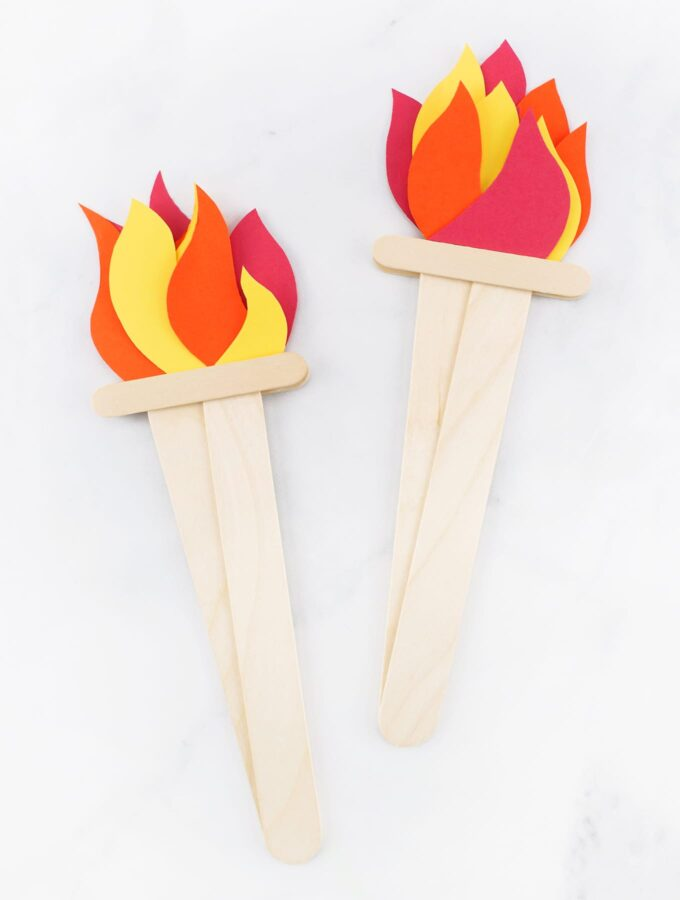 How to Make an Olympics-Inspired Torch Craft