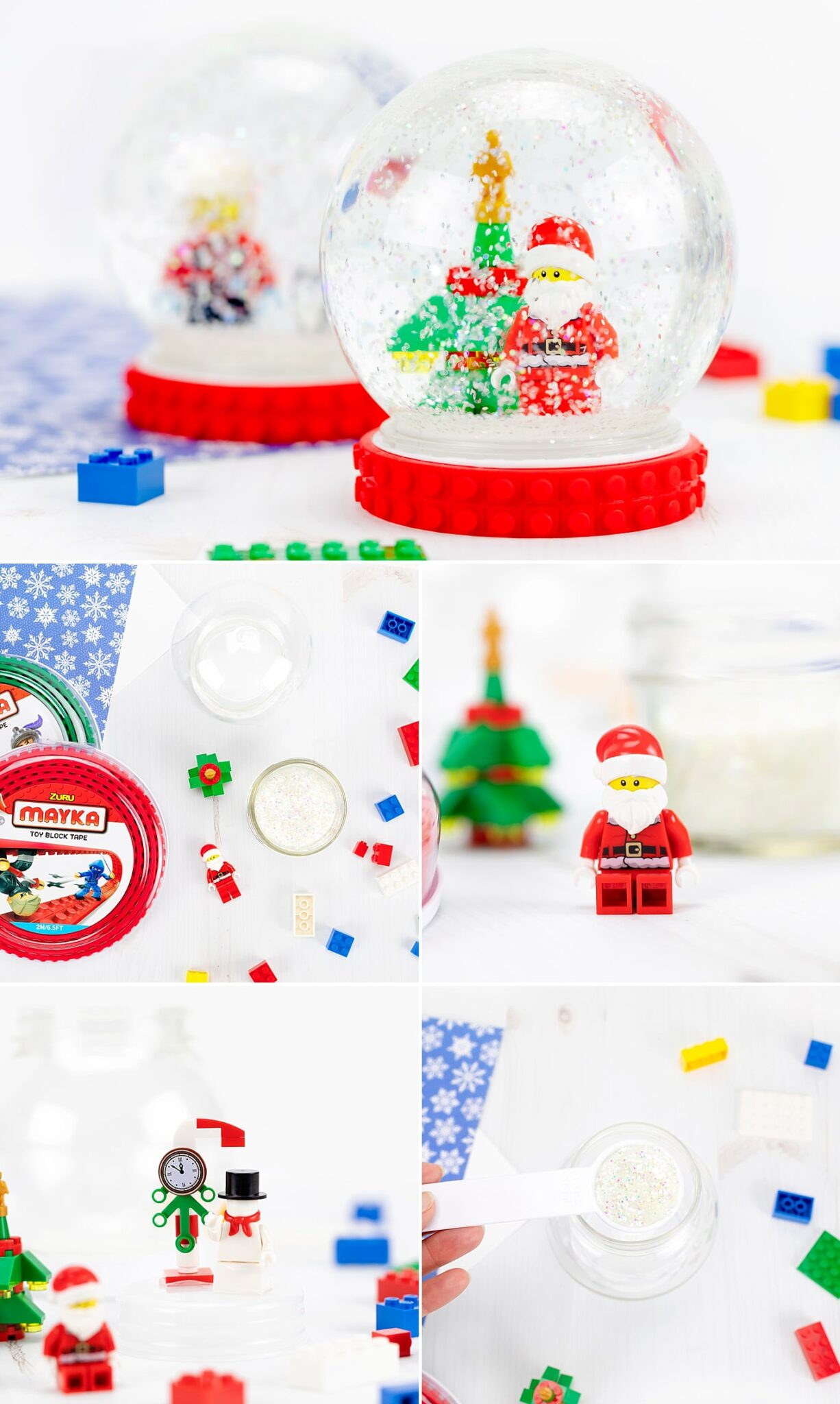 Snow globes are a winter wonderland in a jar! Learn how to make a fun DIY snow globe with this easy step-by-step tutorial and video. It's the perfect Christmas craft for kids and is an awesome homemade gift! #snowglobe #kids #christmas via @firefliesandmudpies