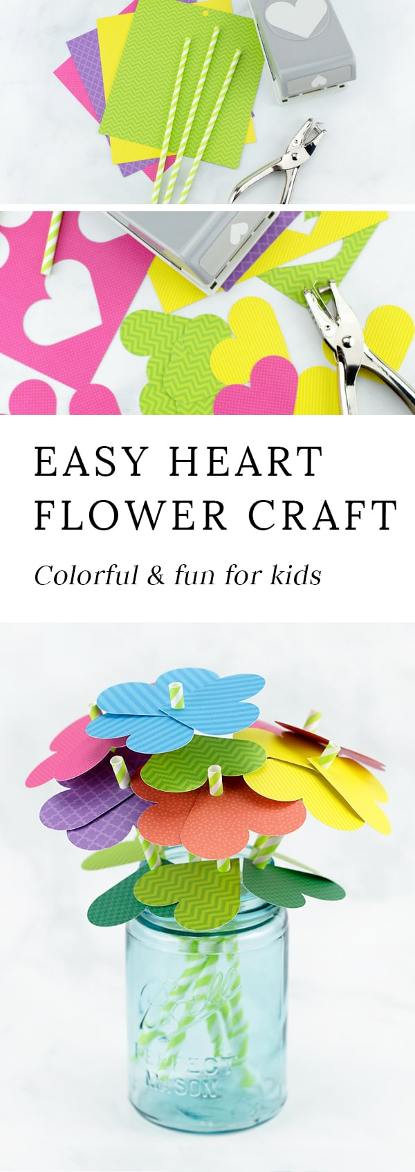 How To Make Simple Paper Heart Flowers