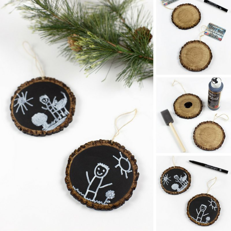 Easy Keepsake Chalkboard Ornament