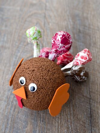 Easy Lollipop Turkey Craft