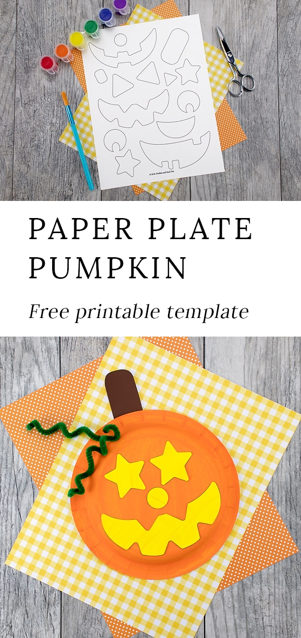 Just in time for Halloween, kids of all ages will enjoy creating this adorable paper plate pumpkin craft with paper plates, paint, and pipe cleaners. #paperplatepumpkin #halloweencrafts #kids via @firefliesandmudpies