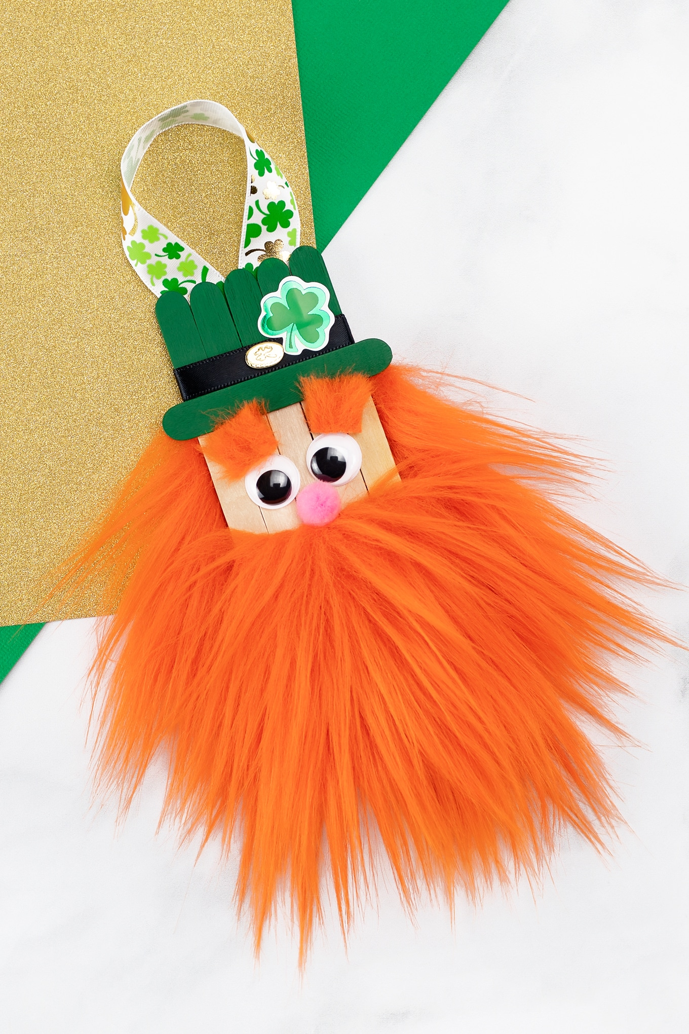 Popsicle Stick Leprechaun Craft for Kids