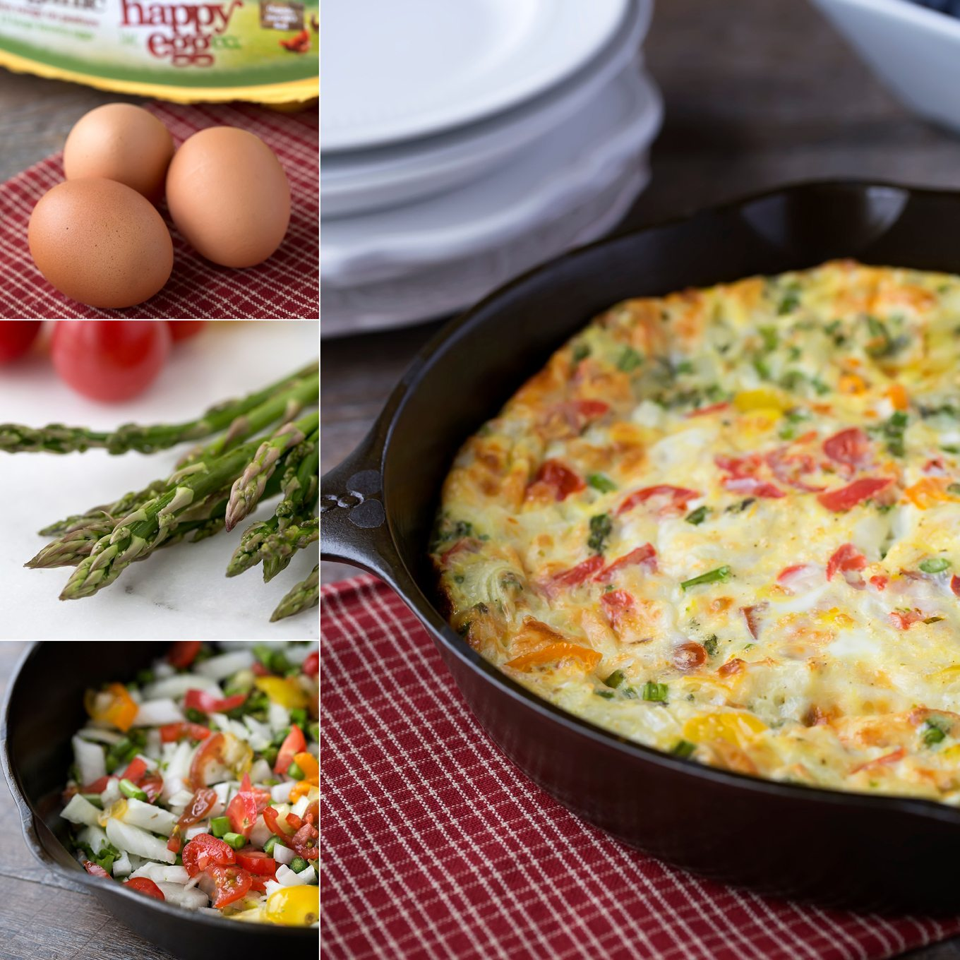 Start the day off right with Cheese and Veggie Egg Bake, a delicious, nourishing, and easy breakfast for busy on-the-go mornings.