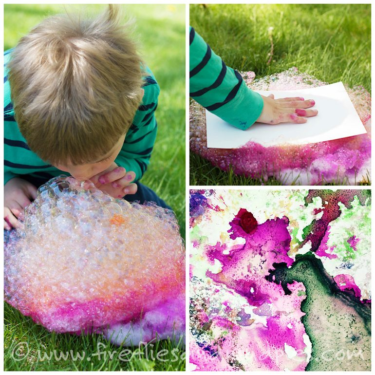 Soap Foam Prints | Fireflies and Mud Pies