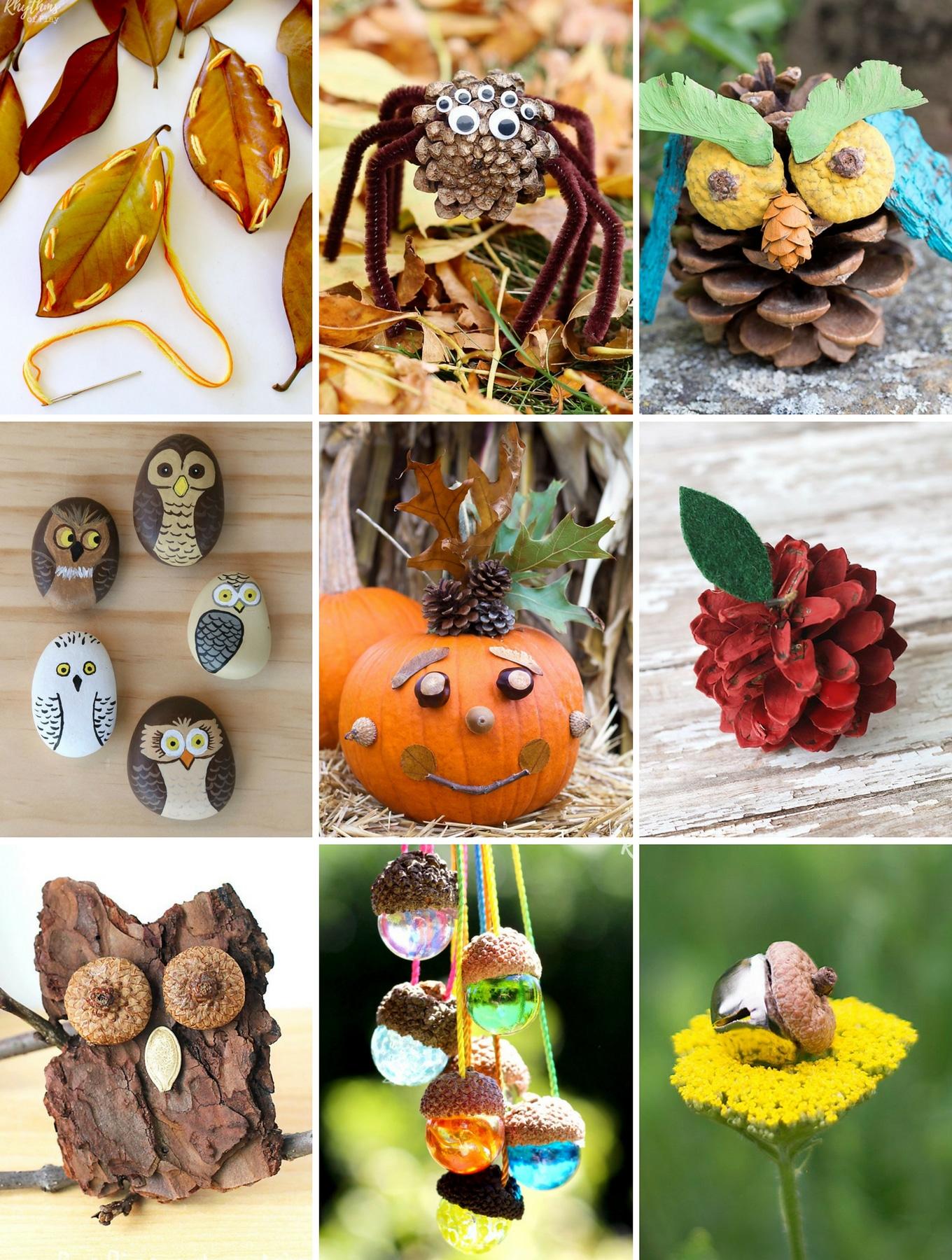 Autumn Natural Halloween Crafts