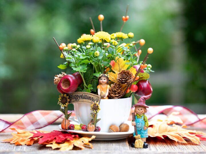 Fall Teacup Garden