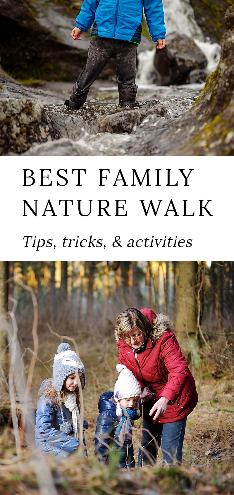 Practical nature walk tips, tricks, and fun nature walk activities for families with toddlers, preschoolers, and school-age kids. #nature #kids via @firefliesandmudpies