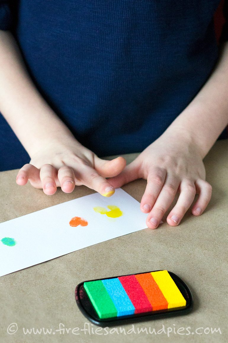 Fingerprint Cartoon Strips | Fireflies and Mud Pies