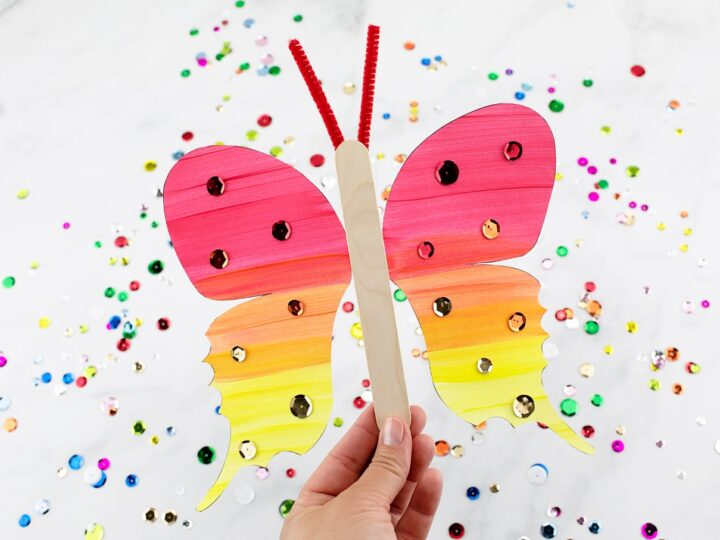 Flapping Butterfly Craft