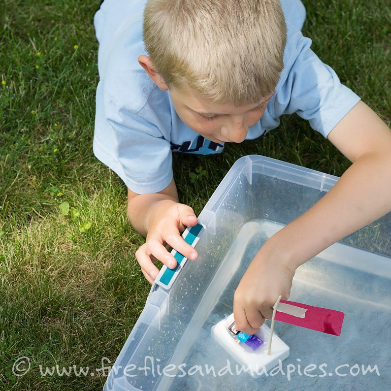 Floating Soap Boats for Kids | Fireflies and Mud Pies
