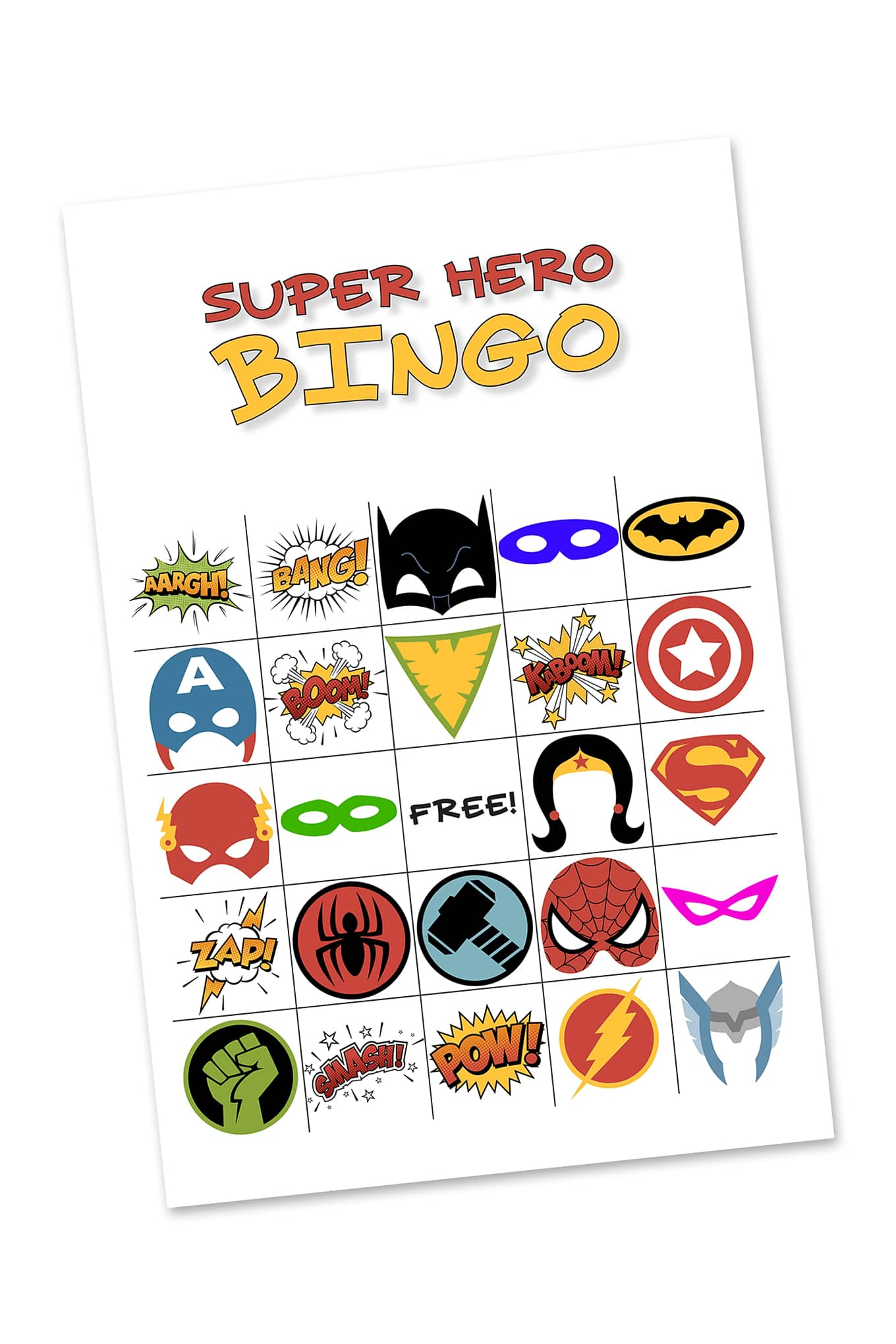 photo about Free Printable Superhero Photo Booth Props known as Free of charge Printable Tremendous Hero BINGO Bash