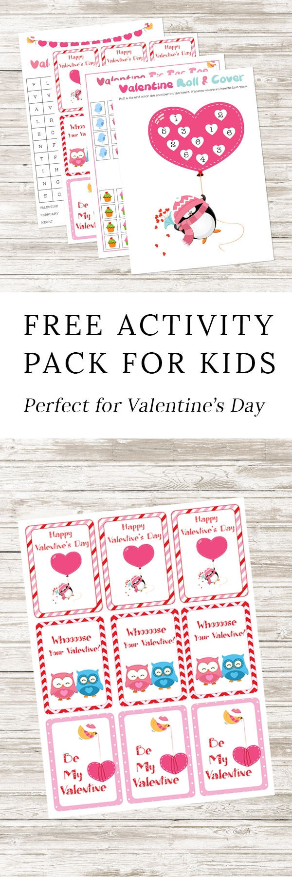 Perfect for school Valentine's Day parties, classroom fun, travel, or keeping busy at home, kids of all ages will enjoy this Free Printable Valentine's Day Activity Pack.