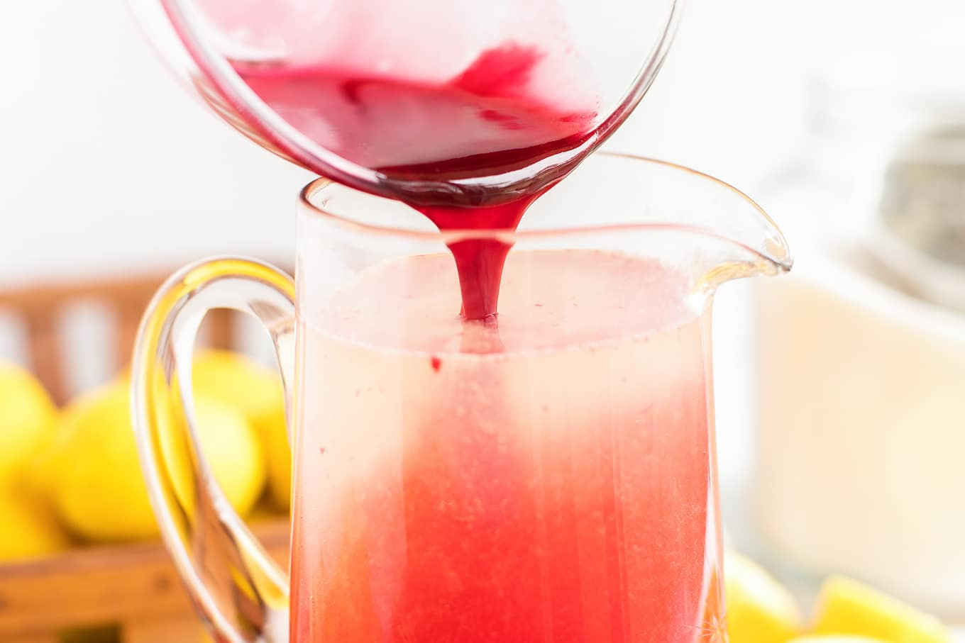 Raspberry Syrup and Homemade Lemonade