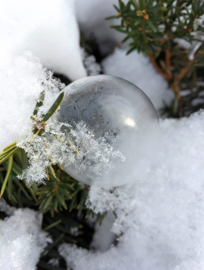 Fascinating Frozen Bubbles