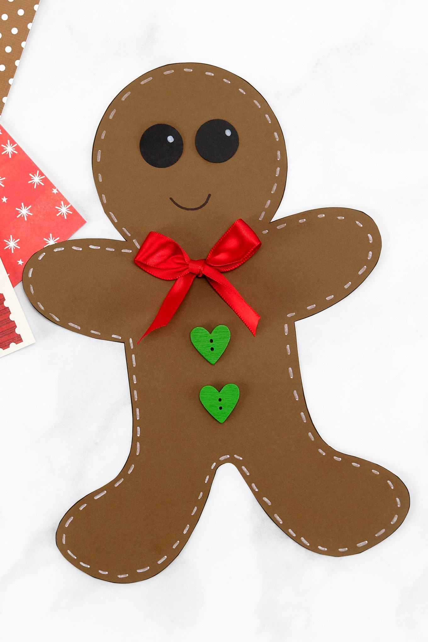 Download our free 3-page printable Gingerbread Man Template to decorate, color, or use in crafts. Perfect for kids of all ages! #gingerbreadmantemplate #christmas #kidscrafts via @firefliesandmudpies