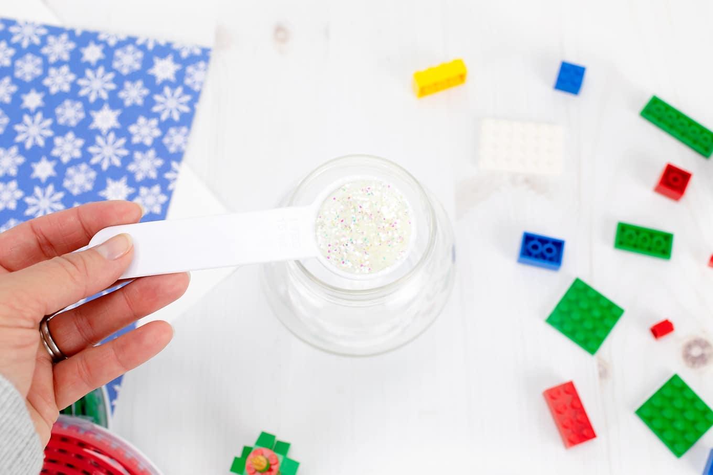 Glitter Snow Globe Jar