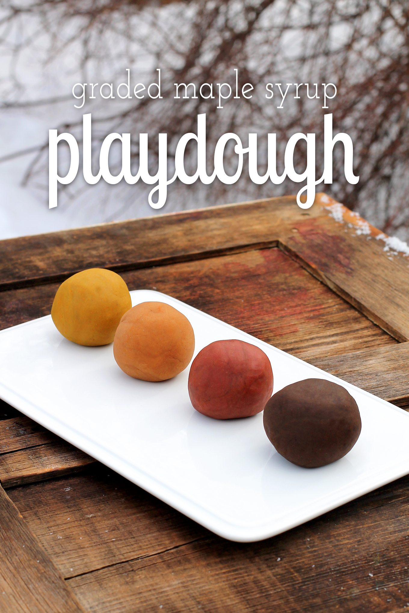 Graded Maple Syrup Playdough