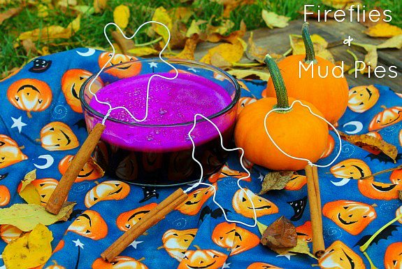 Halloween Bubble Wands with Purple Bubbles - Fireflies and Mud Pies