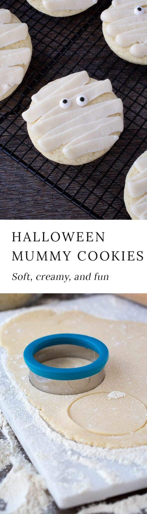 These delicious mummy cookies are sure to add plenty of spooky fun to your child's lunchbox! They are soft, creamy, and will delight children of all ages!