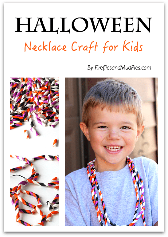 Halloween Necklace Craft for Kids
