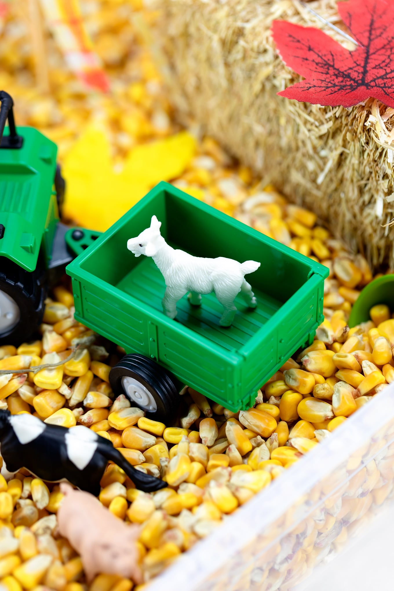 Toy Tractor and Toy Goat