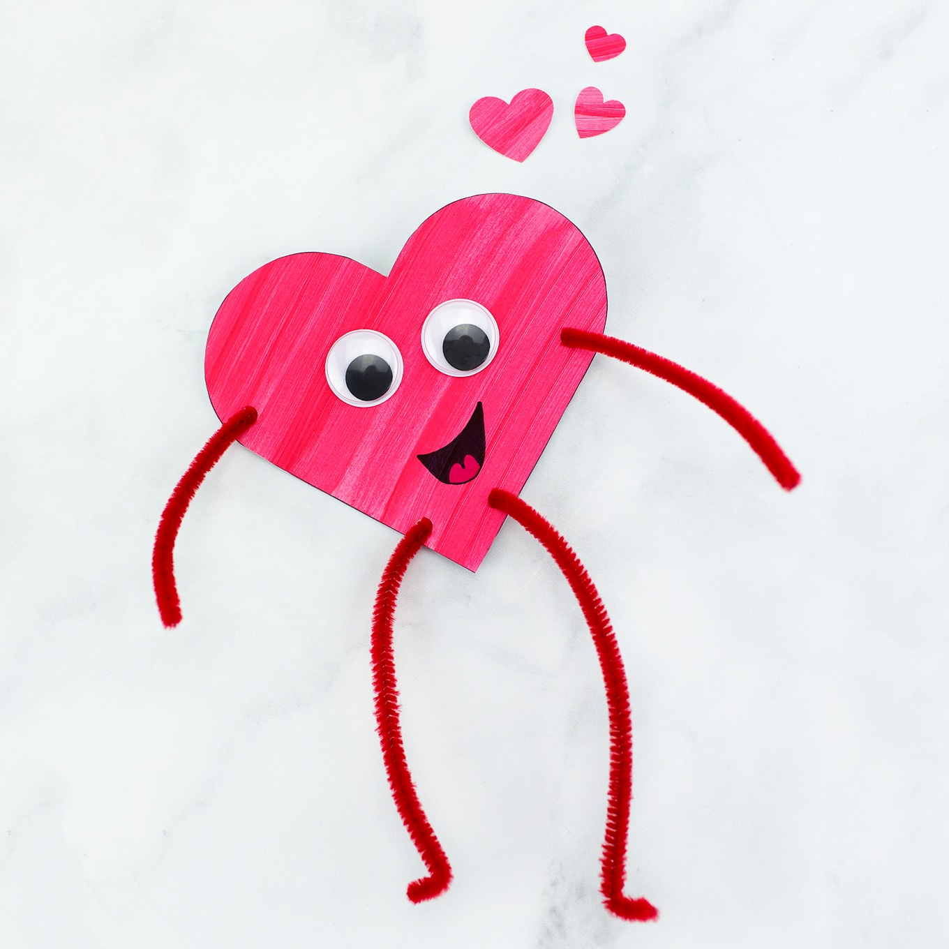 Heart Buddies Easy Valentine's Day Craft for Kids