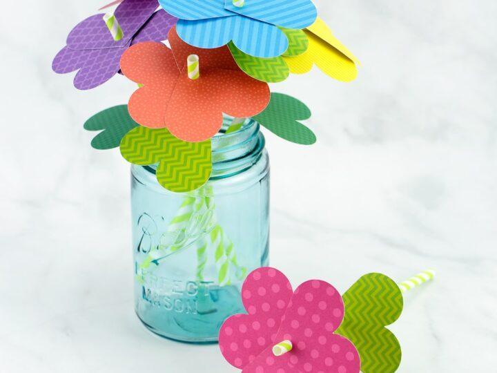 Simple Paper Heart Flowers