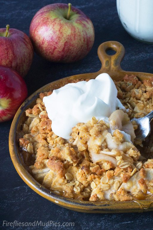Homemade Apple Crisp Recipe | Fireflies and Mud Pies