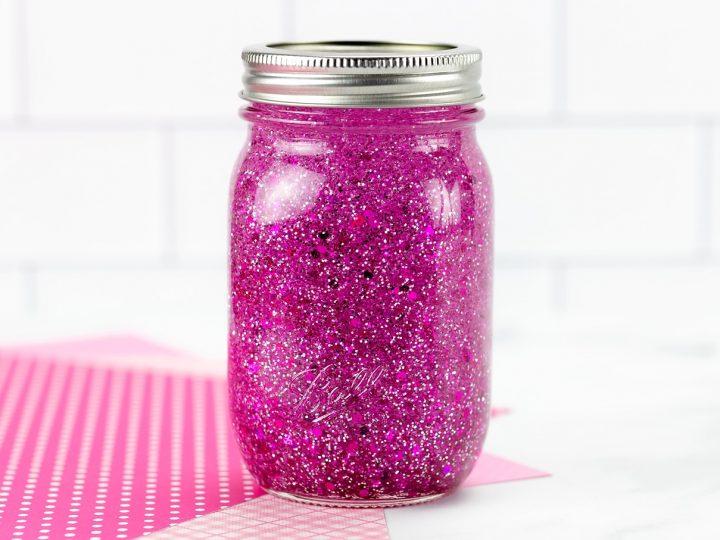 Pink Glitter Jar Instructions