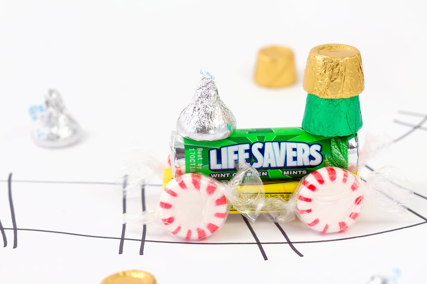 Candy Train Made with Mint Life Savers
