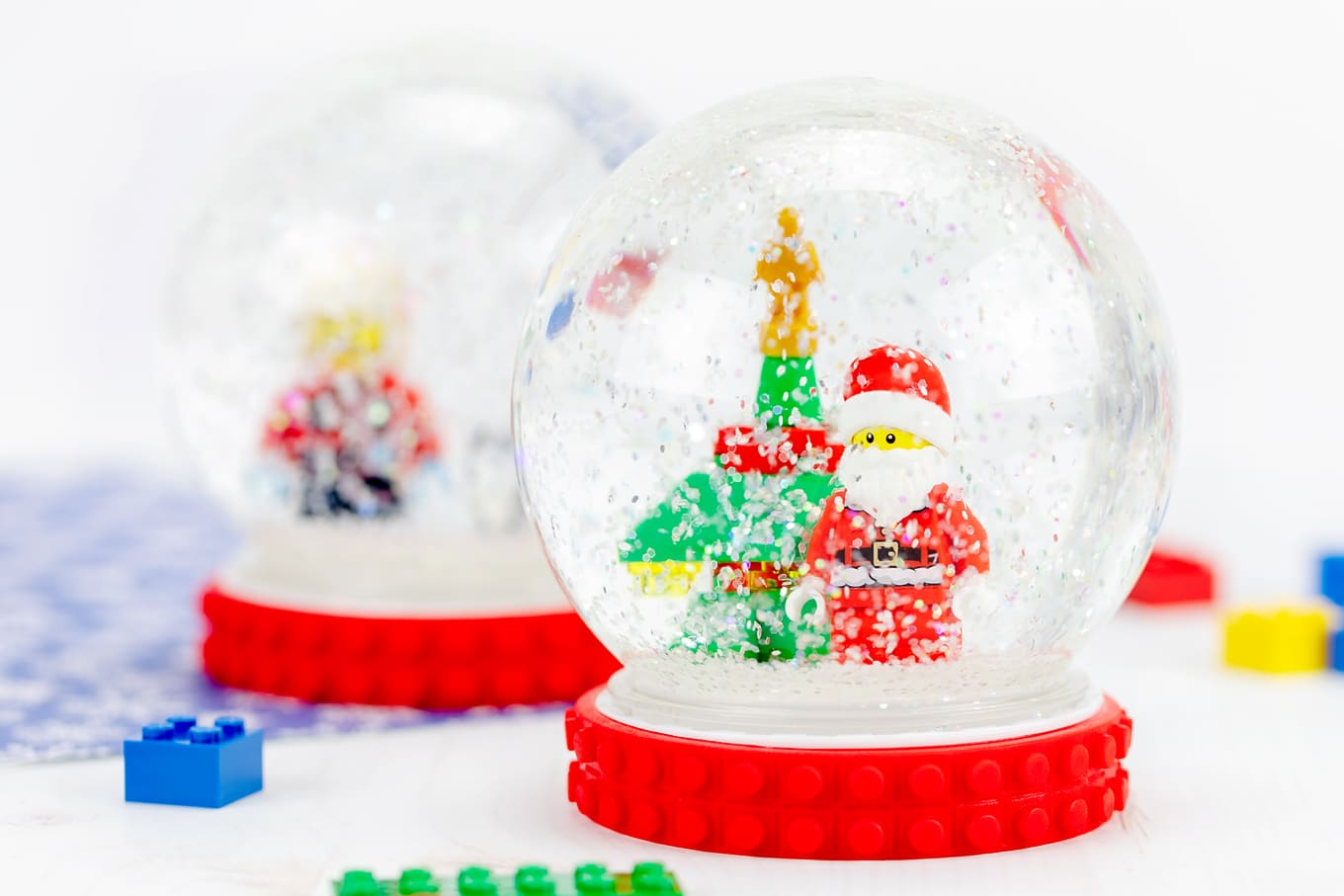 Two DIY Snow Globes