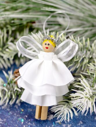 How to Make the Prettiest Angel Ornament for Kids