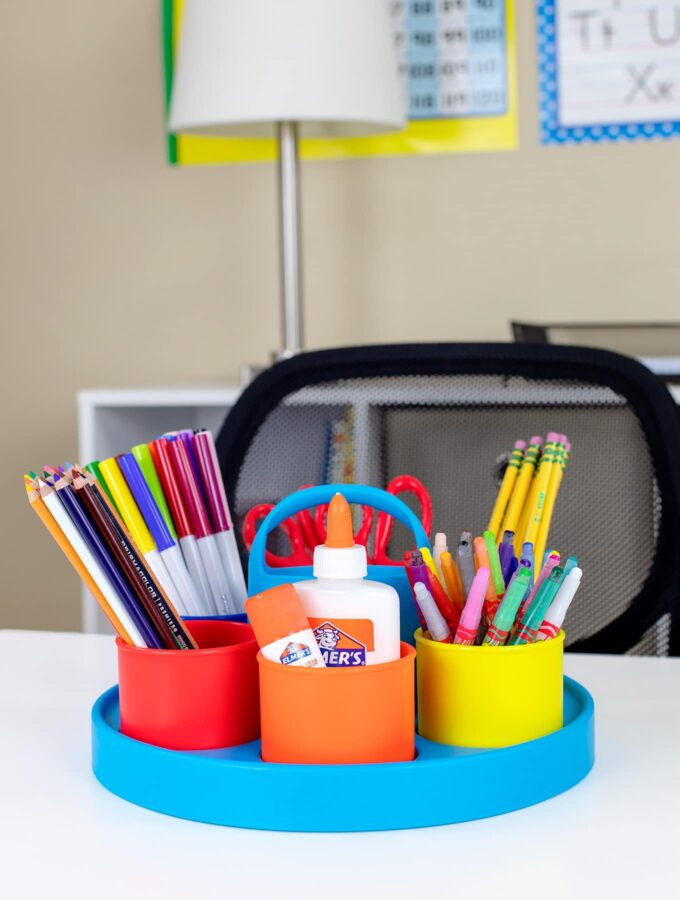 How to Set Up an Easy Kids Homework Station