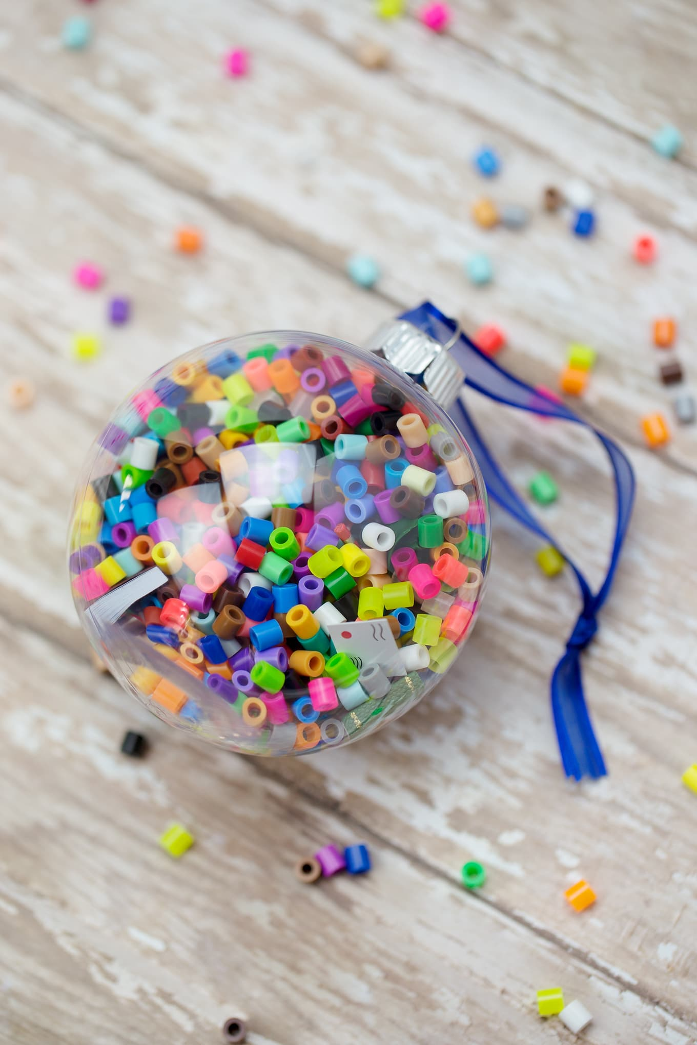 How to Make Colorful I Spy Christmas Ornaments