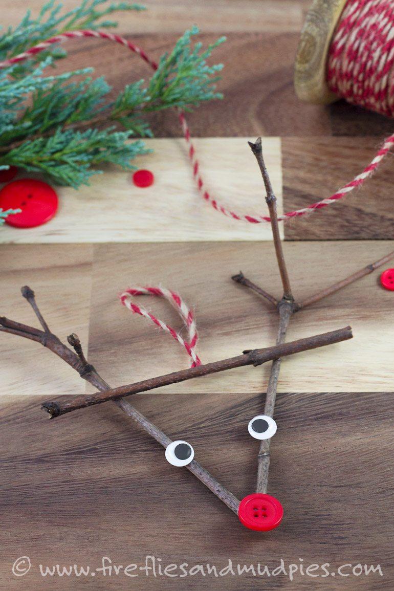Twig Reindeer Ornaments